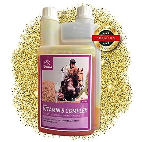 EMMA ♥ Vitaminas B para Caballos tranquilizantes para, Caballos Suplementos líquidos con Complejo vitamínico B Suplementos para el Mantenimiento de los ...