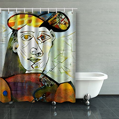Alternative Reproductions Famous Paintings By Picasso Art Design Shower Curtains Custom 60Wx72L Inch Waterproof Polyester Fabric Home Bathroom Decor Bath Decorative Curtain
