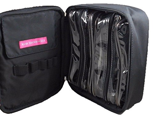 bareMinerals Black Nylon Zip Around 3 Piece Travel Makeup Co