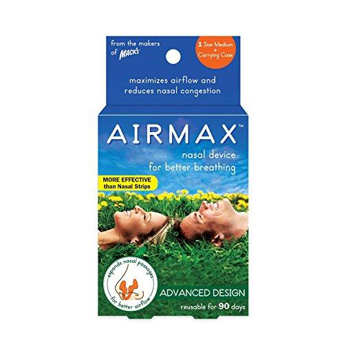 Airmax Nasal Dilator for Better Breathing – Medium - Orange by Mack's