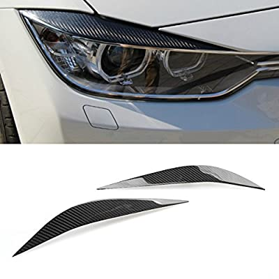 Carbon Fiber Headlight Eyebrow Lid Fit for BMW F80 M3 2014-2020 / F32 4-Series 2012-2020: Automotive