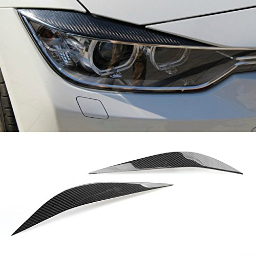 Carbon Fiber Headlight Eyebrow Lid Fit for BMW F80 M3 2014-2018 / F32 4-Series 2012-2018