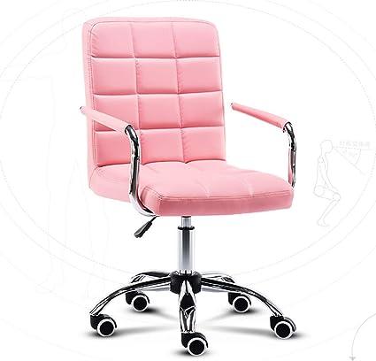 Sedia Girevole Da Ufficio Con Ruote Sedia Ergonomica Da Gioco A 360 Colore Rosa Amazon It Casa E Cucina
