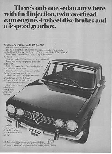Magazine Print Ad: 1969 Alfa Romeo 1750 Berlina, USD 3495,