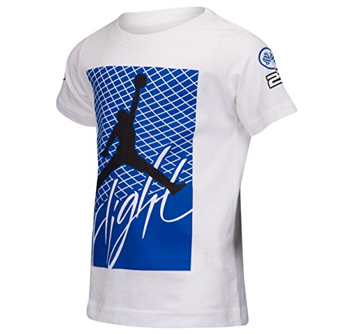 Nike Boys' Jordan Retro 4 Flight T-Shirt (4) White