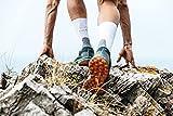 FALKE Mens RU4 Running Socks, Cotton, White