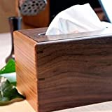 MDRW-Household Wood Paper Towel Box The Living Room Of Walnut Box Tenon Tissue Boxes Living Room Napkin Box Tissue storage Box
