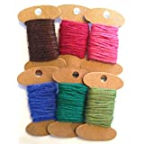 Hemp Rope In Assorted Colors - Pack Of 6