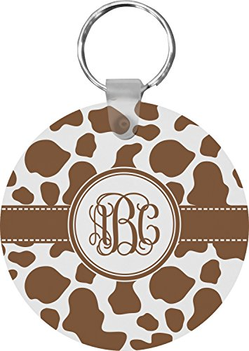 Cow Print Round Keychain (Personalized)