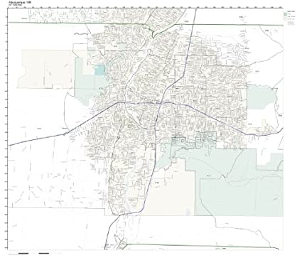 Amazon Com Zip Code Wall Map Of Albuquerque Nm Zip Code Map