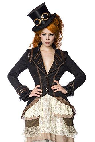 Style Steampunk Fashion Noir manteau Noir marron HvAwqAd