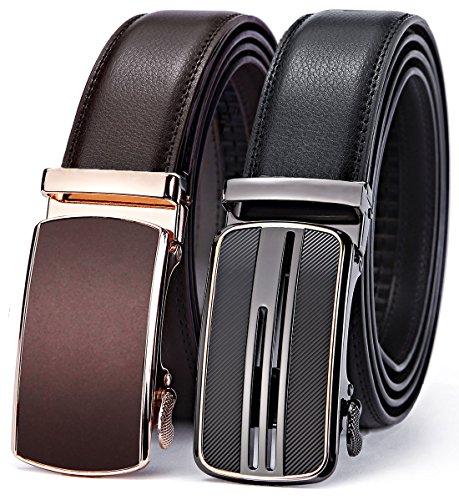 """Bulliant Men Belt-Leather Ratchet Belt for Men Dress 1 3/8"""""""