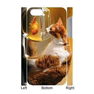 3D Bumper Plastic Case Of Lovely Cat customized case For Iphone 4/4s