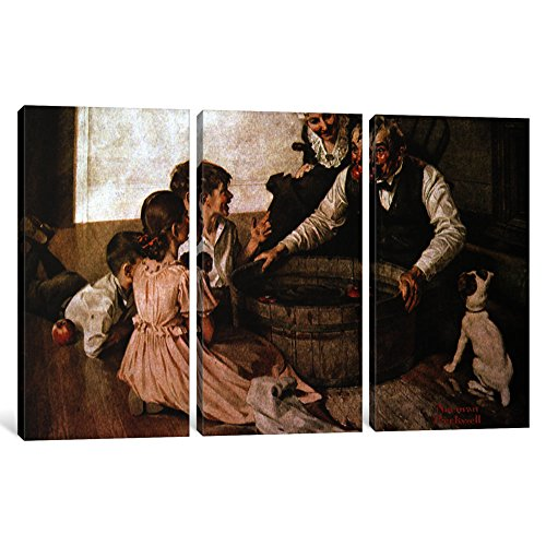 iCanvasART 3 Piece Valspar is Halloween-Proof Canvas Print by Norman Rockwell, 60