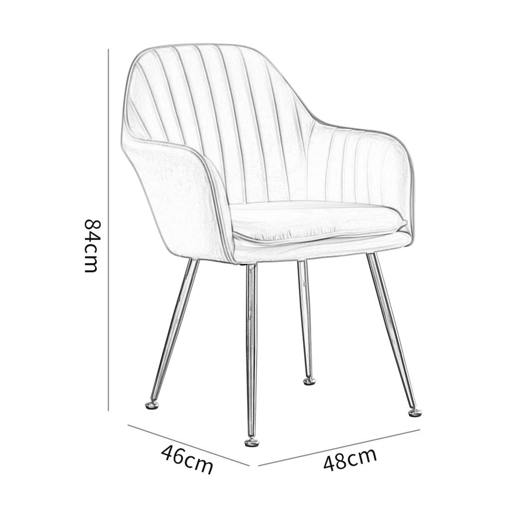 ZINIUKEJI matstolar i modern tyg, stol fåtölj med dämpad mjuk sits robusta metallben och ryggstöd, bärvikt: 200 kg Mörkblått