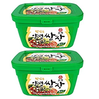 [ 2 Pack X 500g ] BBQ Ssamjang Korean Seasoned Soybean Paste with Red pepper Salt Starch Onion 쌈장