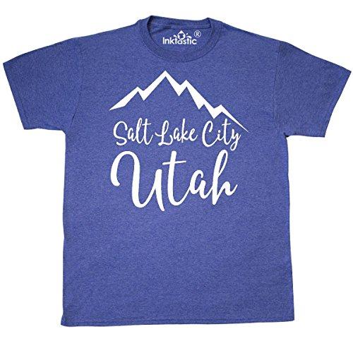 inktastic Salt Lake City Utah T-Shirt Large Retro Heather - Place Fashion Slc