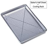 "Chef's Star Aluminum Commercial Baker's Half Sheet with Cooling Rack Set - 17.75"" X 13"""