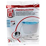 Dogit Design Carbon Replacement Foam Filter Cartridge for Dogit Design Fresh & Clear Fountain - 3-Pack
