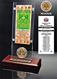 """NFL San Francisco 49ers Super Bowl 29 Ticket & Game Coin Collection, 12"""" x 2"""" x 5"""", Black"""