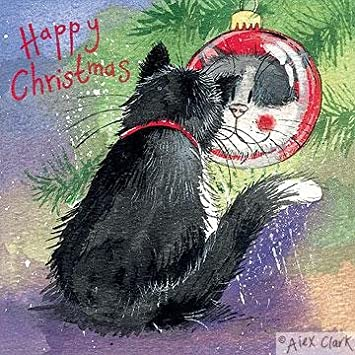 Alex Clark Charity Christmas Cards Cat Bauble Pack Of 5 1 Free Alex Clark