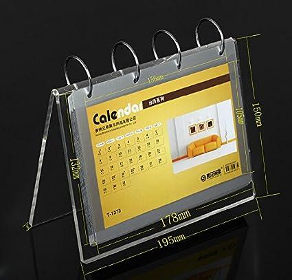 Amazon.com: Acrylic Calendar Frame Calendar Holder Photo Frame: Home ...