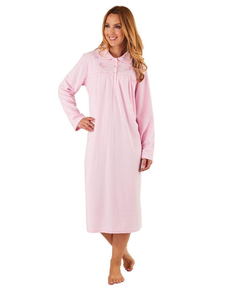 Slenderella ND8126 Women's Pink Long Sleeve Night Gown Nightdress