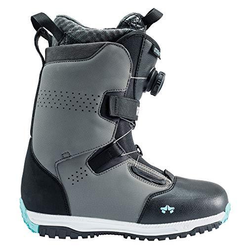 Rocker Snowboard Custom (Rome Snowboards Stomp Snowboard Boots - Women's, Slate Mint, 10)
