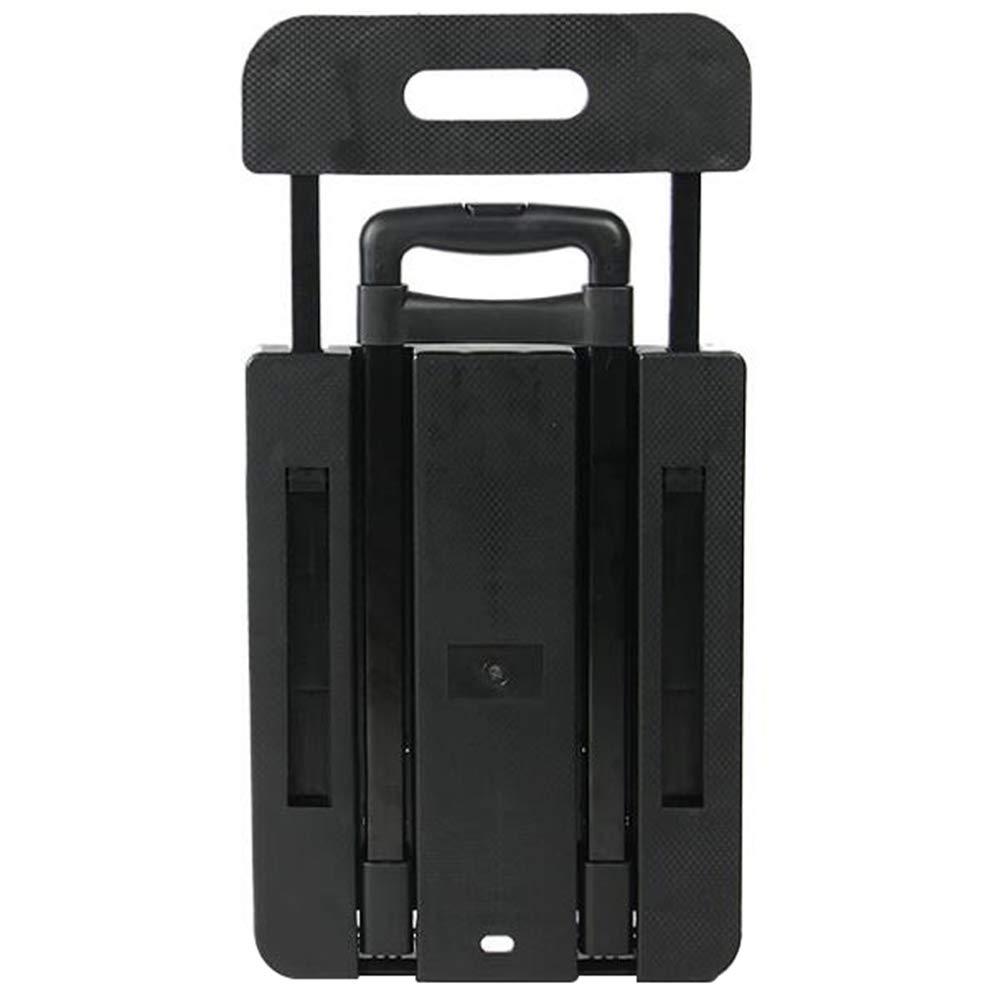 ショッピングトロリー、実用的なトロリー、折りたたみフラットベッド、家庭用ポータブルトロリー荷物カート、持ち運び可能、黒/赤/緑/青 B07R4XQL5L Black 11.8*22.4*35.4 inches B