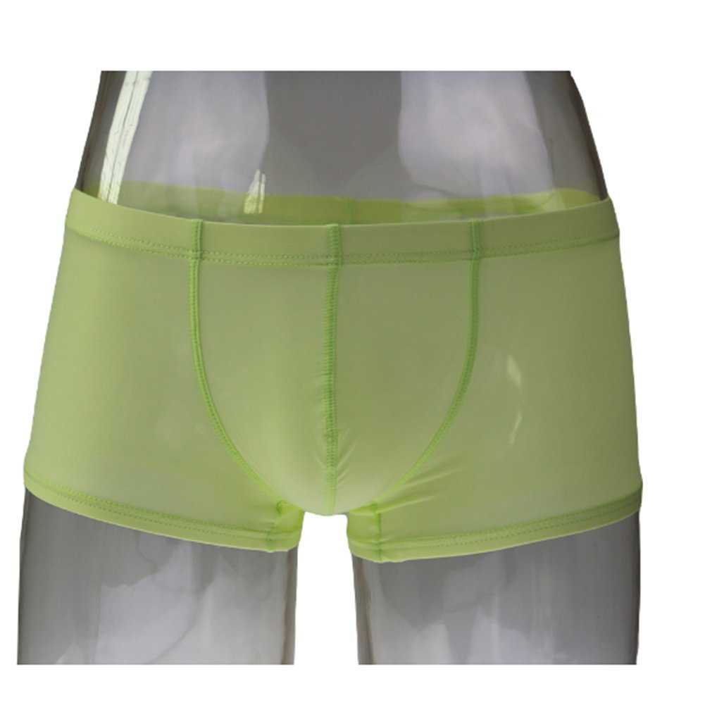 Amazon.com : Mens Boxer See Through Underwear Ice Silk Front Pouch Breathable Underpants Gre : Sports & Outdoors