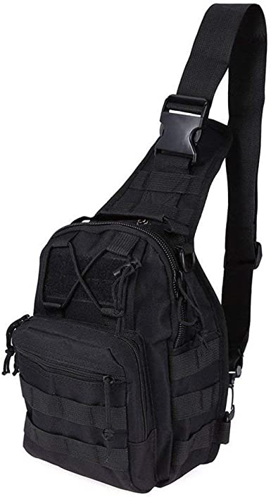 Tactical Military Crossbody Shoulder Belt Bag Chest Pack Camping Hiking Backpack