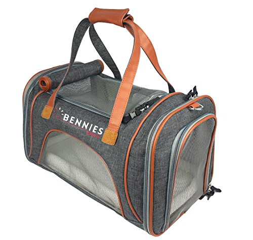 Bennies World Soft Sided Airline Approved Pet Carrier, , with Comfort Fleece Bedding, Perfect for Cats and Small Dogs