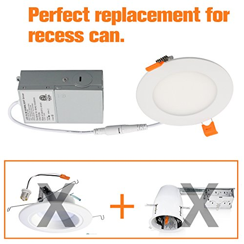 "12W 6"" Ultra-Thin Recessed Ceiling Light With Junction Box"