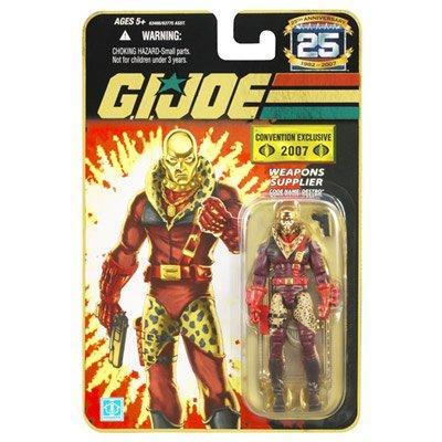 (2007 Comic Con SDCC Exclusive Hasbro G.I. Joe 25th Anniversary Gold Destro Action Figure)