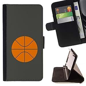 Momo Phone Case / Flip Funda de Cuero Case Cover - Baloncesto Naranja minimalista Deporte - LG G4