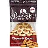 Bandit's Biscuits Natural Healthy Grain Free Dog Treats, Large Dog Treats (Cheese Bacon)