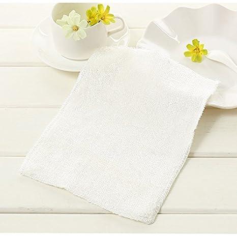 Distinct® 2pcs paños de limpieza duraderos Micro fibra plato lavadero toallas hogar cocina cuenco lavado
