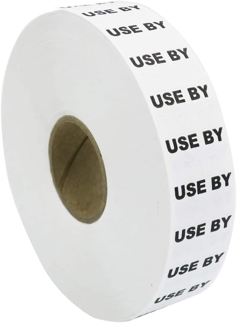 Amram White USE-by Labels for Monarch 1131, 1 Sleeve of 20,000 Labels; Includes 1 Replacement Ink Roller