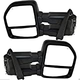 Nova for 2015-2018 Ford F150 Truck Driver/Passenger Tow Mirror Power & Heated & Turn Signal & Black Housing Tow Towing Mirrors Mirrors Set Pair with 8-Pins Plug