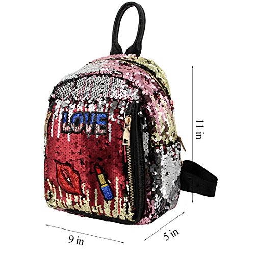 Novias Boutique Party Backpack Girls Bags Red Fashion Bag Travel Women Sequined Shoulder green For wwqfSarc