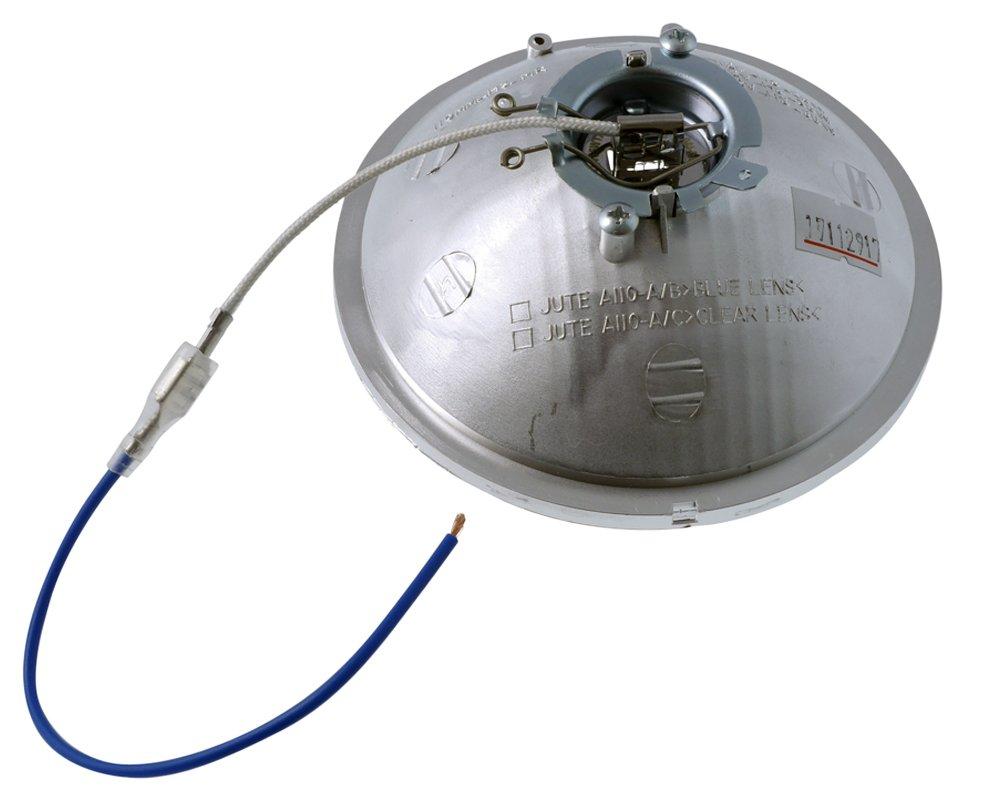 Einsatz 4 1//2 Zoll mit H3-Birne Motorrad Scheinwerfer Fernlicht Klarglas