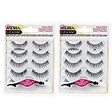 Andrea False Individual Eye Lash Set, Multi pack #21 with Eyelash Applicator, 2 Pack
