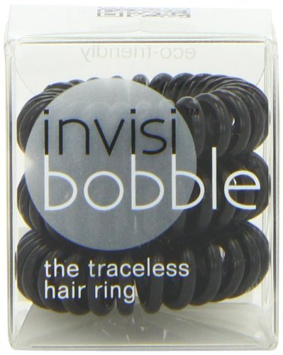 Invisibobble Traceless Hair Ring and Bracelet, True Black Suitable for All Hair Types by Invisibobble