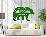 Wall Stickers Art Decor Decals Sign Greeting Welcome To California Republic On Bear