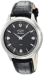 Rotary Men's gs02965/04/22 Analog Display Swiss Quartz Black Watch