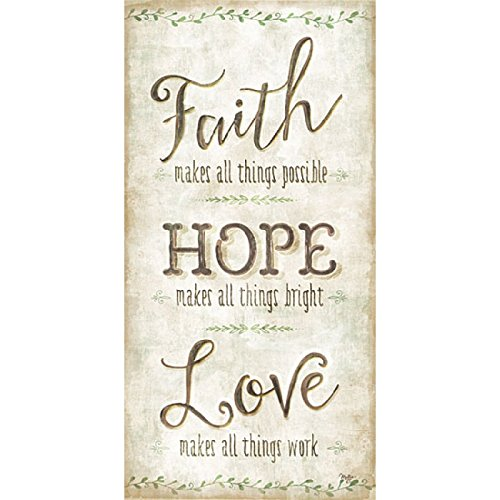 Faith, Hope, Love By Mollie B - 12 x 24 Premium Gallery Stretched Canvas Ready to Hang