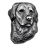 PinMart's Silver 3D Golden Retriever Dog Breed Dog Lover Lapel Pin