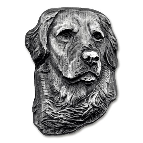 PinMart's Silver 3D Golden Retriever Dog Breed Dog Lover Lapel Pin by PinMart (Image #3)'