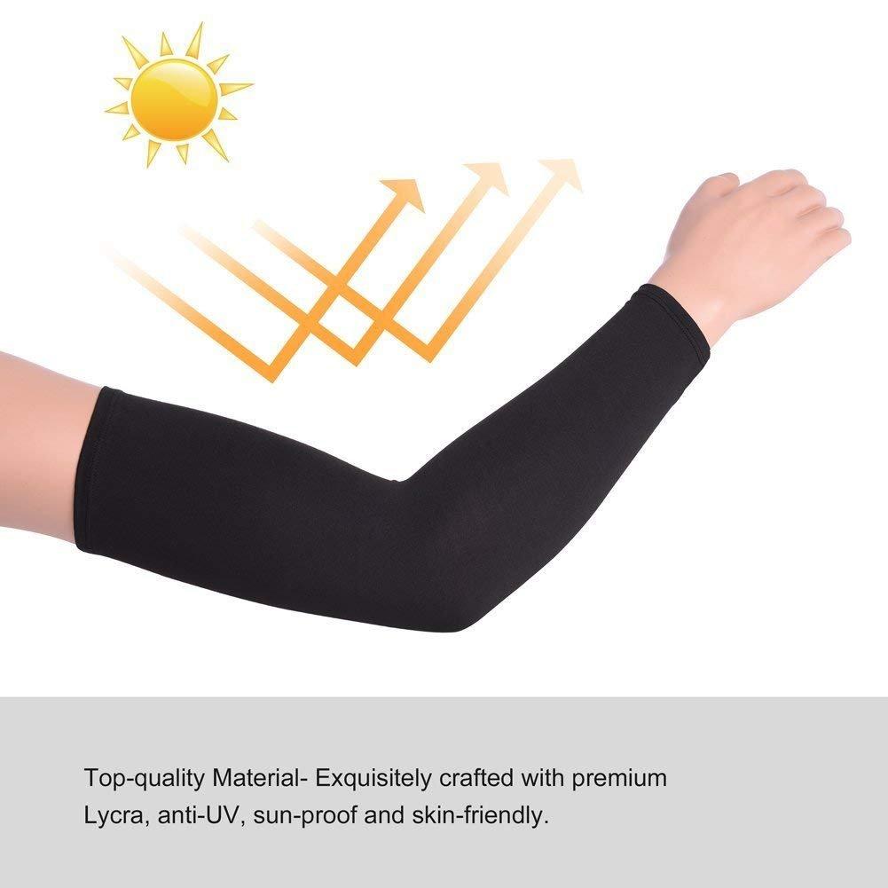 Protecci/ón Solar SPF 50+ UV Sudar Absorbente 1 Par Pretty See Manguitos Ciclismo Manga de Compresi/ón Manguito para Brazo Respirable
