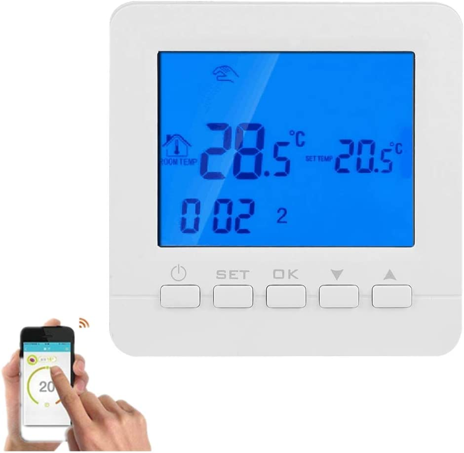 Heating Thermostat LCD Touchscreen WiFi Digital LCD Display for The Electric Heating Equipment and Wall-Hung Boiler Heating System